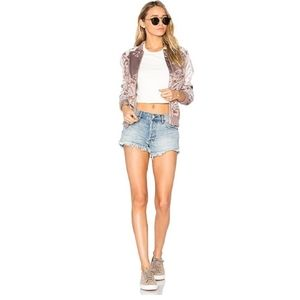 Free People Button Fly Hi Rise Cutoff Shorts 29